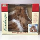 NEW IN BOX Lemax 81012 Medium Village Mountain Backdrop Collection 9 Trees  1998
