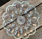 Heavy Anchor Hocking Fairfield Dozen 12 Deviled Egg Plate circa 1960's