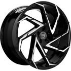 4 20 Staggered Lexani Wheels Cyclone Gloss Black Machined Rims B1