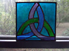 Stained glass Celtic trinity suncatcher