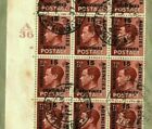 MOROCCO AGENCIES Overprint 1937 Cover GB KEVIII CYLINDER BLOCK Plate 16 MA292