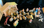 VINTAGE NATIVITY SET MIXED 35 PIECES GERMANY ITALY Resin Paper Mache Chalkware