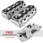 Chevy Bbc 454 320cc 119cc Hydr-r Complete Cylinder Heads Free Intake
