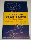 Vintage 1936 Sunoco Gas Oil Advertising Book Election Year Facts