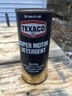Vintage Texaco Suler Motor Detergent 16oz Full Can Gas Oil Soda