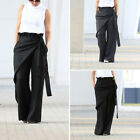 Women High Waist Long Pants Vintage Loose Wide Leg Harem Full Trousers Plus Size