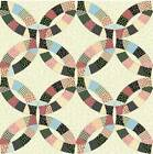 Double Wedding Ring Hunter 90 Cheater Quilt Top Print 398 BTY