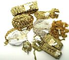 Lot Vintage Trim 57+ Yards Metallic Gold Embroidered Sequins Lace Trim New