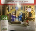 Christmas Decorations 8ft Inflatable Light Up Nativity Scene Outdoor Xmas Decor