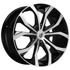4 22 Lexani Wheels Lust Black Machined Rims B3
