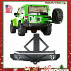 Powder Coated Rear Bumper + Tire Carrier For 87 06 Jeep Wrangler TJ YJ New D18