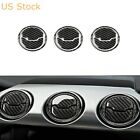 9x Carbon Fiber Interior Air Vent Outlet Frame Trim For Ford Mustang 2015 19