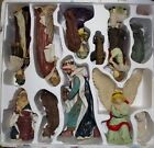 Resin Nativity 11 Piece Set MERRY CHRISTMAS
