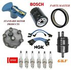 Tune Up Kit Air Oil Fuel Filters Cap Wire Spark Plugs For JEEP CJ5 L6 38L 1976