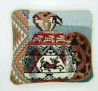 Southwest Needlepoint Tapestry Pillow Throw Toss Tribal Zipper Pots Native