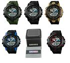 SKMEI Men's LED Digital Military Date Alarm Sports Army w/ Warranty Card