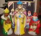 Vintage 1983 Empire Christmas Nativity Lighted Blow Mold 3 Wise Men w Box