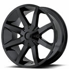 4 20 KMC Wheels KM651 Slide Gloss Black Rims B3