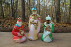 VINTAGE BLOW MOLD NATIVITY THREE WISE MEN SET