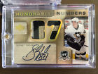 2005-06 UD The Cup Sidney Crosby Honorable Numbers RPA Dual Patch Auto RC 87