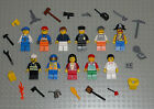 Lego MINIFIGURES Lot 11 People Police Girl Pirate Space City Toys Guys Minifigs