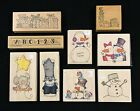 LOT OF 9 WHIPPER SNAPPER WOOD MOUNTED RUBBER STAMPS BRAND NEW