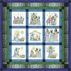 Quilt Kit O Holy Night Christmas Embroidery Quilt w Finished Blocks