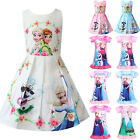 Kids Girls Frozen Anna Elsa Princess Dresses A Line Party Mini Dress Nightdress