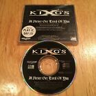 Kings X - I'll Never Get Tired Of You CD US promo kxm supershine dream theater