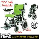New 24V10Ah Folding Lightweight Electric Power Wheelchair Mobility Aid Motorized