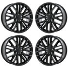 20 JEEP GRAND CHEROKEE GLOSS BLACK WHEELS RIMS FACTORY OEM 9170 EXCHANGE