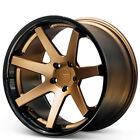 4 22x9 Ferrada Wheels FR1 Matte Bronze with Gloss Black Lip Rims B1