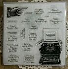 CTMH Close To My Heart Stamp set S1504 Typed Note Never Used