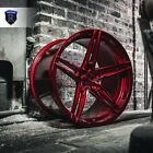 20 Rohana RFX15 20x9 10 Brushed Red Concave Wheels Mercedes C CLASS 3003504