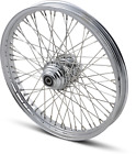 Drag Specialties Laced Front Wheel 21inX2.15in 60 Spoke Single Disc Harley FXSTS