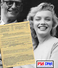 1950s MARILYN MONROE Signed Medical Doc w miscarriage note Autograph PSA DNA LOA