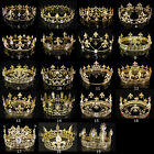 19 Styles Mens Imperial Medieval Fleur De Lis Gold King Full Round Crown Party