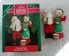 1990 Hallmark POPCORN PARTY Mr. and Mrs. Claus Santa Collector's Series w/ box