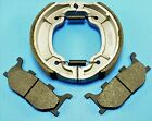 BONDED FRONT PADS & REAR BRAKE SHOES YAMAHA XVS250 DRAG STAR (2000-05)
