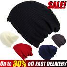 Mens Ladies knit Beanie Hat Winter Warm Woolly knitted Thick Ski Caps Outdoor