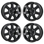 16 DODGE GRAND CARAVAN GLOSS BLACK WHEELS RIMS FACTORY OEM SET 2330