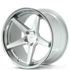 4 19x85 19x95 Ferrada Wheels FR3 Silver Machined Chrome Lip Rims B5