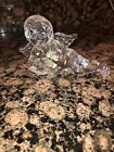 WATERFORD CRYSTAL NATIVITY CHERUB ANGEL WITH LUTE FIGURINE