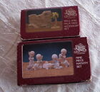 2 NEW SETS PRECIOUS MOMENTS PEWTER NATIVITY 9 PIECE SET  WALL PALM TREE EX COND