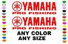 YAMAHA PRO FISHING stickers decals  ANY COLOR ANY SIZE