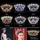 67 Wide Large Crystal Gold King Queen Round Crown Wedding Prom Party Pageant