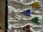 FABERGE XENIA SET OF FOUR 4 MULTI COLORED LIQUOR GLASSES NEW IN NOX