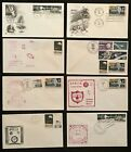 Lot of 8 APOLLO Covers 1969 72 USPS or Navy Recovery Force Canceled Great Stamps