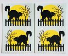 4 MODULES HALLOWEEN BLACK CAT PAPER WHISPERS MRS GROSSMANS STICKERS SPOOKY FENCE