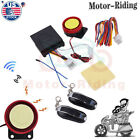 Motorcycle Car Scooter Security Alarm System Anti-theft Remote Control Engine US